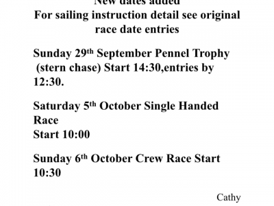 New dates for races