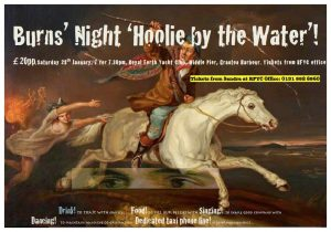 Burns' Night 'Hoolie by the Water' Saturday 28th January 2017