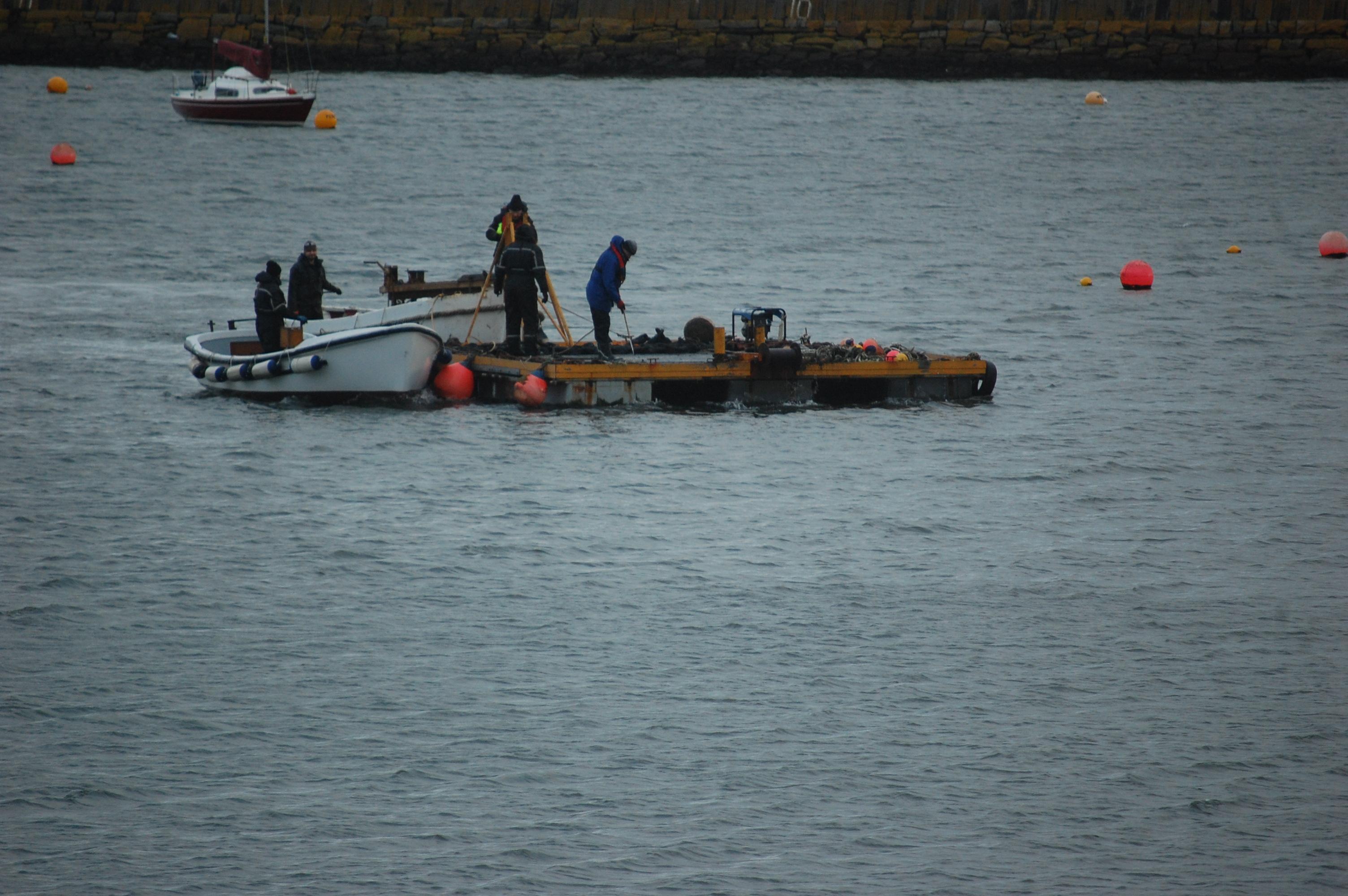 Harbour team brave the elements…