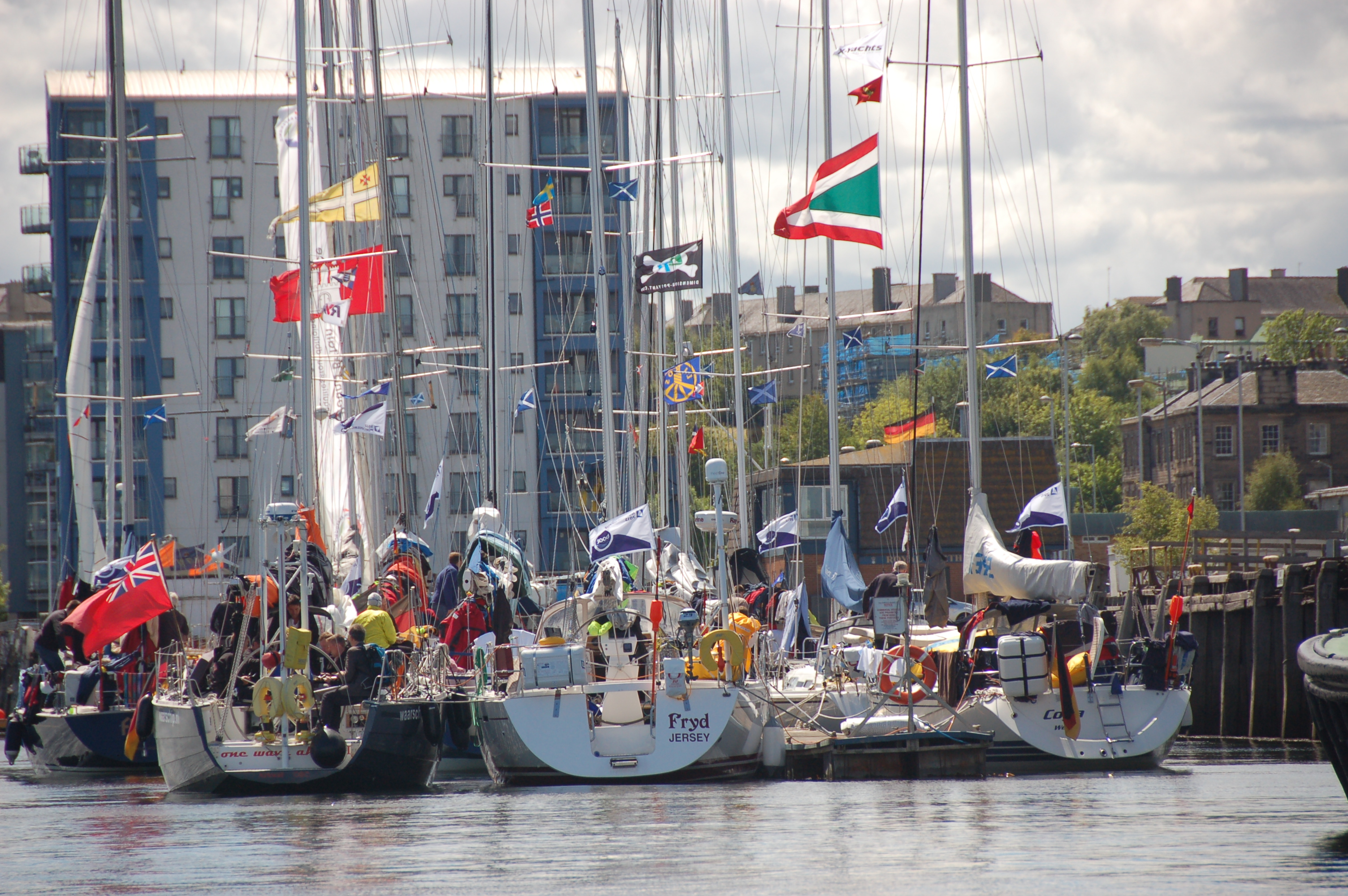 The pontoons are busy and colourful - photo by Hillary Sillitto