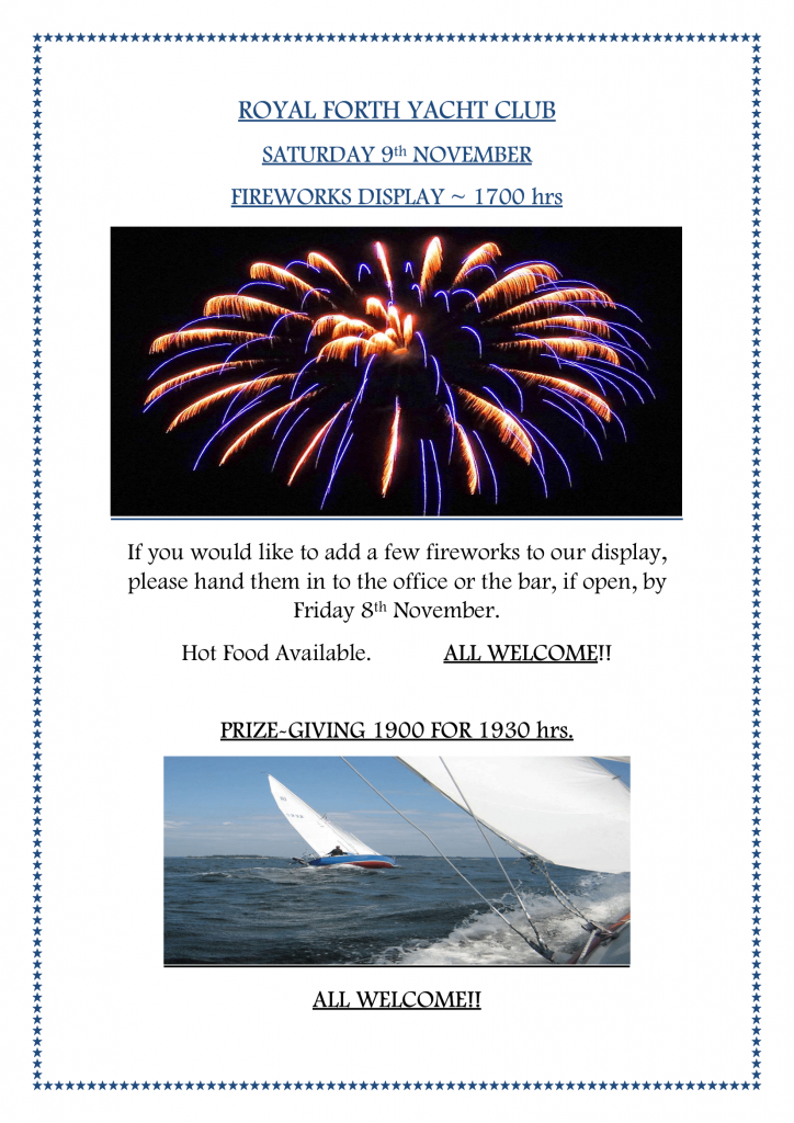 Fireworks and Prize-Giving Evening 2019