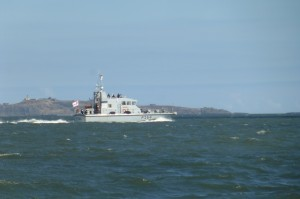 HMS Archer coming our way