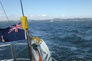 HMS Archer heads for Granton
