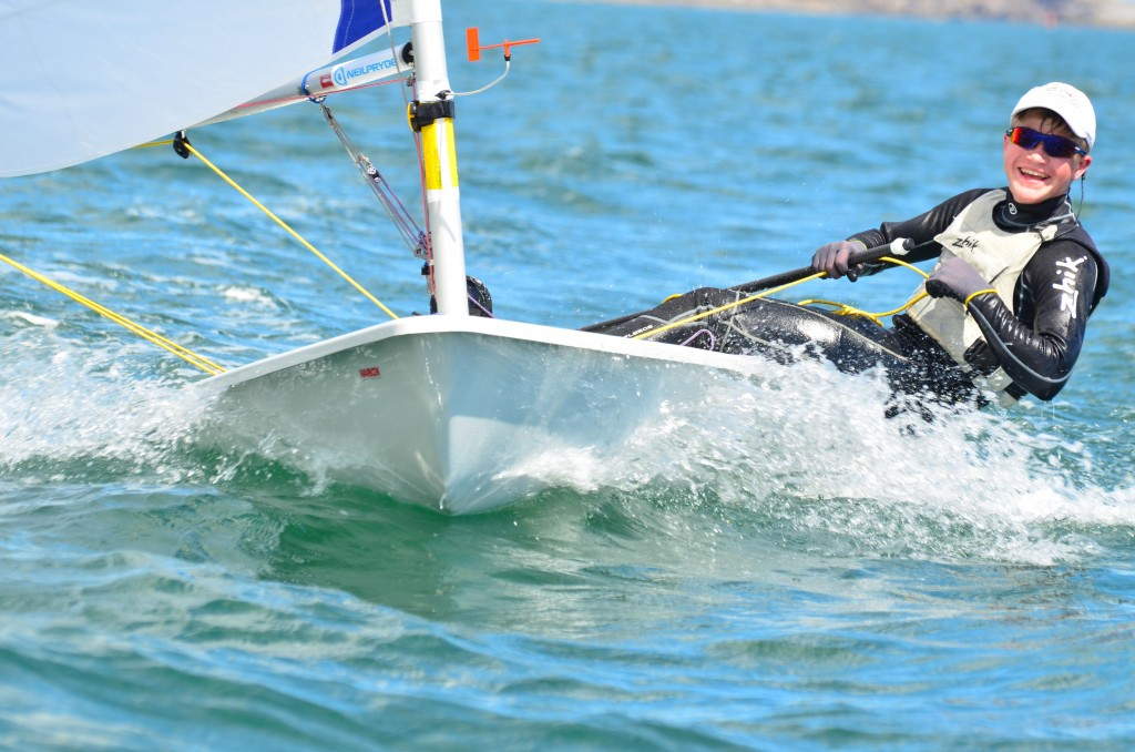 Jamie at the 2013 Laser Nationals