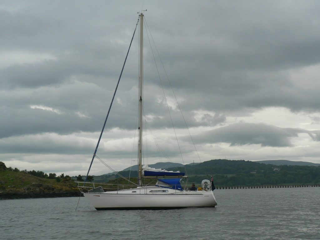 Solveig at anchor off Cramond Island