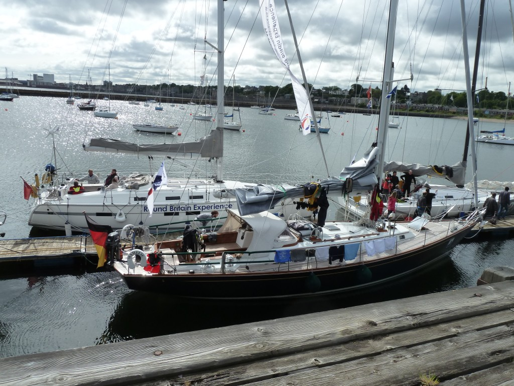 "The ""Round Britain Experience"" and Helgoland boats on the pontoon - photo by Hillary Sillitto"