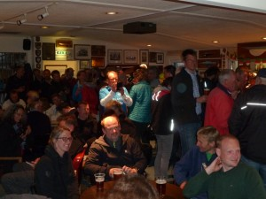 crews enjoy a drink in the bar