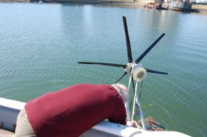 Working on wind powered dredger Mk3