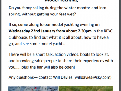 Winter Talk - Model Yachts